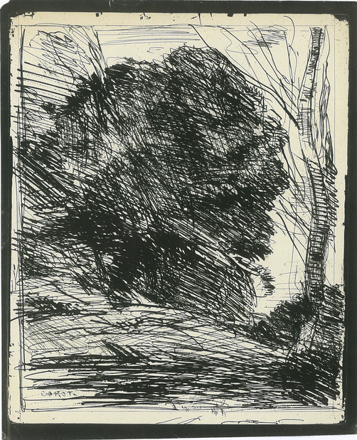 Jean Baptiste Camille Corot, Arbre dans la forêt, 1860 ca.