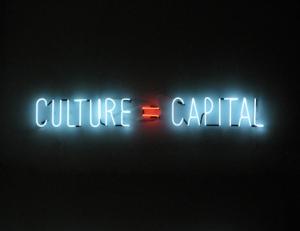 Culture=Capital © Alfredo Jaar, 2010