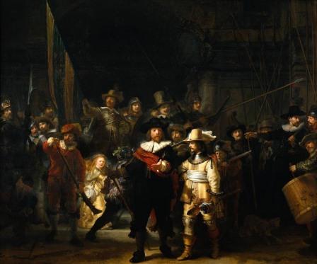 La ronda di notte, Rembrandt, 1642.