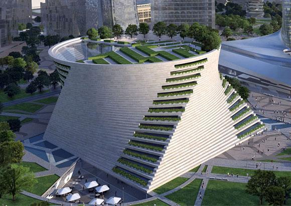 L'esterno del MAC di Milano secondo il progetto dell'architetto Daniel Libeskind