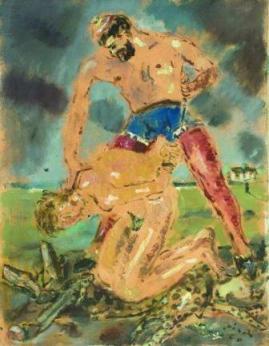 Filippo de Pisis, Sacrificio di Isacco, 1940.