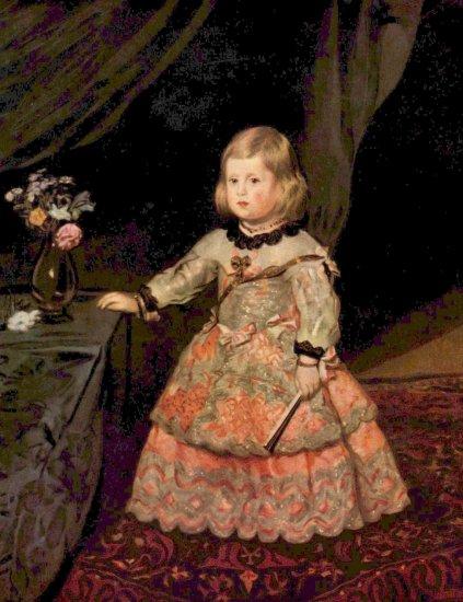 La infanta Margarita en traje rosa - Diego Velázquez (1655)