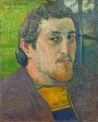 Autoritratto dedicato a Carrière Gaugain