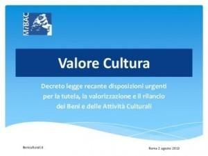 immagine decreto cultura