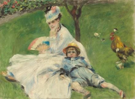 Madame Monet e suo figlio Renoir