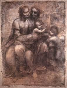 Madonna con Bambino Sant'Anna e San Giovannino, Leonardo da Vinci