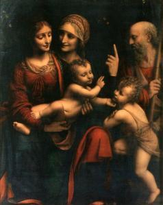Sacra Famiglia con Sant'Anna e San Giovannino, Bernardino Luini