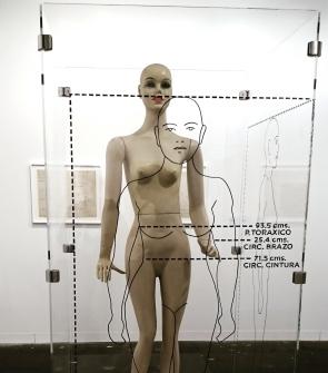 Teresa Burga: Perfil de la Mujer Peruana / Objeto-Estructura-Informe Antropométrico