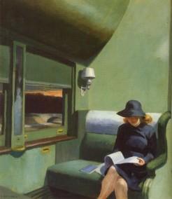 Edward Hopper - Lettrice in treno