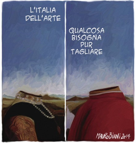 Vignetta di Mauro Biani, il Manifesto, 6 febbraio 2014