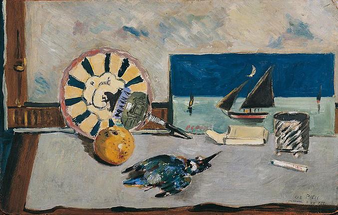 Filippo de Pisis_Naturamorta_col_martin_pescatore_1925