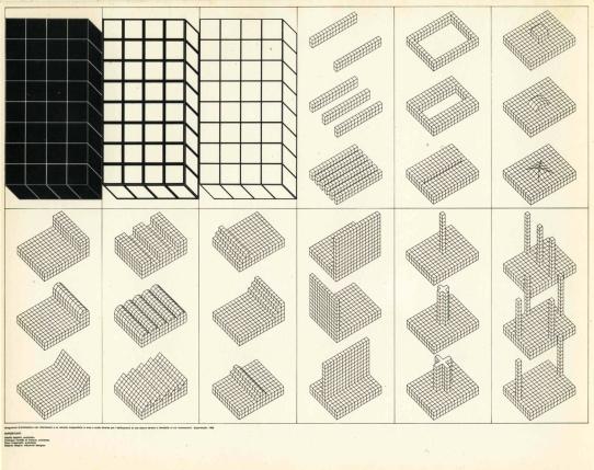 © Imagen cortesía de PAC. Superstudio, Catalogo degli Istogrammi d'Architettura, 1969