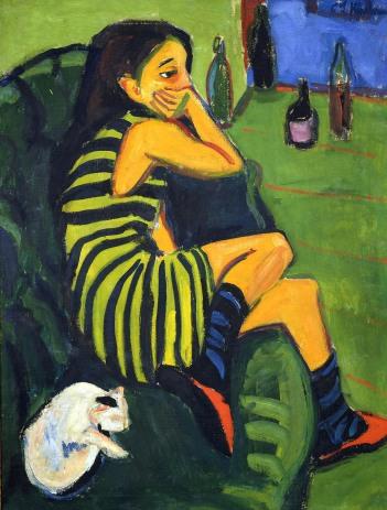 E. L. Kirchner, Marcella, 1910, olio su tela, Brucke Museum, Berlino