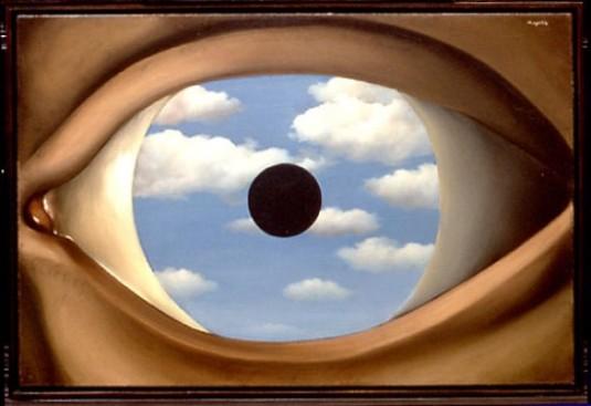 René Magritte, Il falso specchio, 1928