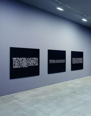 Titled (Art as Idea as Idea)- 10 Mounted Phorographs -121,9 x 121,9 cmJoseph Kosuth - 1968- Courtesy Art Basel