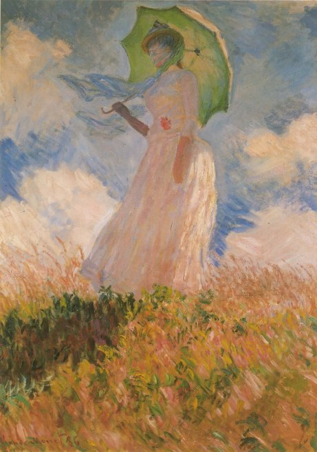 Donna con parasole, Monet, 1886