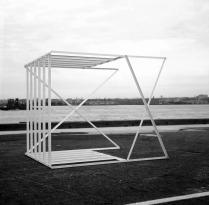 Paolo Icaro, Gabbia Bianca, 1967. Courtesy by Galleria P420