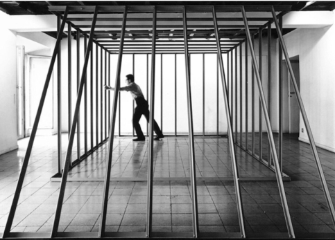 Paolo Icaro, Gabbia Pliniominio, 1967. Courtesy by Galleria P420