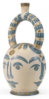 Pablo Picasso - Vase Aztèque aux Quatre Visages (Aztec Vase with Four Faces), 1957.