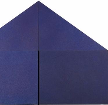 Rodolfo Aricò, Casa Prima, 1970-1972. Acrilici su tela, telai sagomati, 270x360x10 cm (4 moduli)
