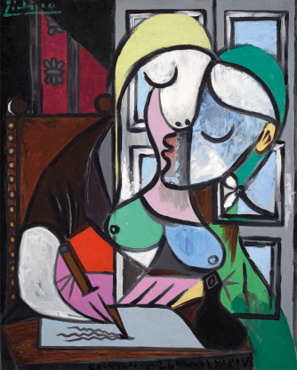 Pablo-Picasso-Femme-ecrivant