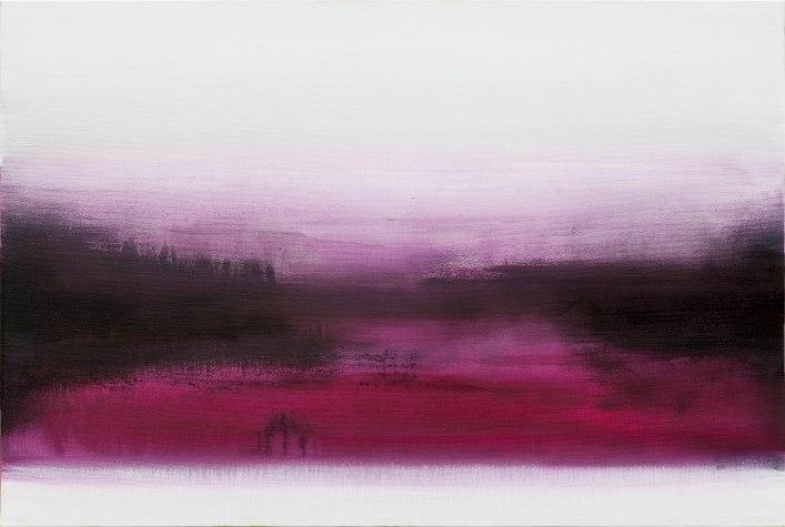 Lichnos, 2012. Acrilico e mica su juta 100x150 cm