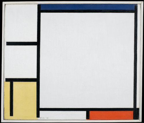 Elisabetta_Piet Mondrian, Composition with Blue, Red, Yellow, and Black, 1922