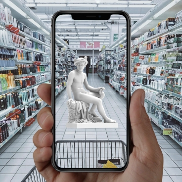 ALL World - Augmented Reality Platform for Artists, Cold Cuts by Cross Lab, Courtesy of ALL World