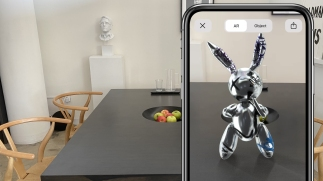 ALL World - Augmented Reality Platform for Artists, Vandalized Chrome Rabbit by Cross Lab, Courtesy of ALL World