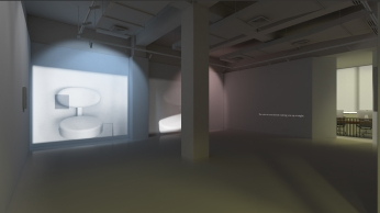 "VSpace, Galleria Massimo De Carlo, ""The Gazing Eyes Won't Lie"" by Lee Kit, Courtesy of Massimo De Carlo"