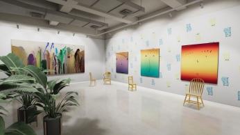 """VSpace, Galleria Massimo De Carlo, """"The John Armleder and Rob Pruitt Show"""", Courtesy of Massimo De Carlo"""